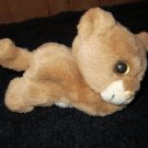 Rare Plush baby Lion Cat Purrs roller ball Large eyes