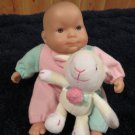 Berenguer Babies  Doll JC Toys Holding plush Lamb
