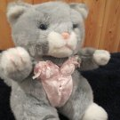 Vintage Frederick's of Hollywood gray Plush Kitty Cat in Lingerie