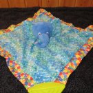 Eric Carle Plush Blue Elephant Activity Toy Teether Security Blanket