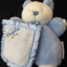 Just One Year Carters Blue White Cuddle Me Bear with Blanket