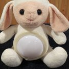 Plush white Pink Lamb Tummy Lights Up