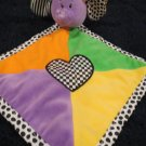 Baby Ganz Elephant Security Blanket Lovey Heart Checks dots Stripes