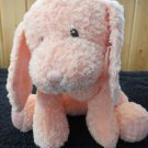 Baby Gund Pink Puppy Dog  Pink nose plaid accents # 43671