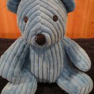 Elegant Baby Blue Plush Bear wide Corduroy