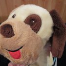 Taggies Cute Colorful Plush Puppy Dog Brown ears and Spot on eye