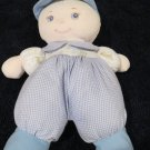 You & Me Plush Boy Doll Blonde Blue Eyes Blue Cap