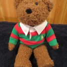 Ralph Lauren Teddy Bear 2005 Red Green Rugby Shirt
