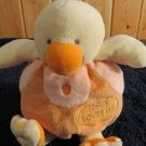 Aurora Baby Plush Duck Chick Jesus Loves Me Stuffed Toy