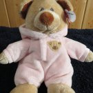 "Ty Pluffies 10"" Pink Baby Bear in Hoody Pjs"