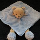 Carters Blue Security Blanket Tan Bear with legs NWOT