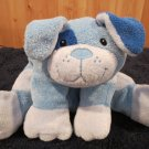 Flat Floppy Blue Dog Dark Blue Ear Spot on Eye Security Lovey