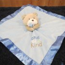 Carters Tan Bear Blue Security Blanket One of a Kind