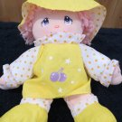 Vintage Happiness Aid Well Made Plush Doll Pink hair purple eyes