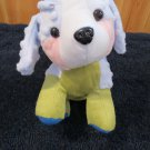 Puli International Plush Blue Green Pink Dog Tony Toy