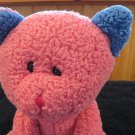 Beverly Hills Teddy Bear Co Plush Pink Cat Blue ears
