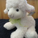 CS International Plush Lamb Green Ribbon Shopco