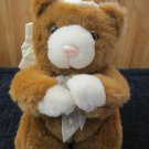 Plush Brown Bear Angel wings Halo Musical Kneeling Praying