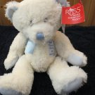 New Russ Berrie Plush white Teddy Bear God danced the day you were born