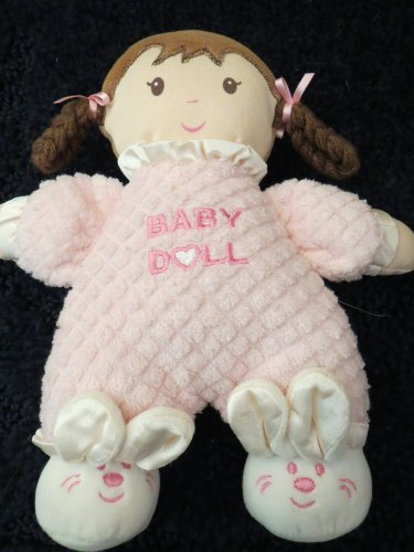 Especially for Baby Plush Pink Doll brown eyes braids rattles Bunny Slippers
