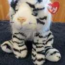 Plush Ty Classic  White Black striped Tiger named Streaks
