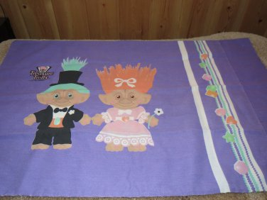 1992 Treasure Trolls Pillow Case Bride n' Groom Wedding