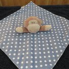 New Baby Starters Brown Monkey Blue security blanket white dots Rattles