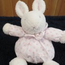 Carters Just One Year white bunny Rabbit Plush Rattle wearing balloon outfit