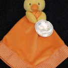 New Prestige Baby Orange Security Blanket Yellow Duck Chick
