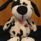 Puli International Black and White spotted Plush Dog