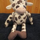 Ikea Black White Plush Cow skinny legs pointed feet Fabler KO