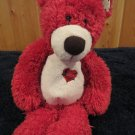 First & Main Red Bear named Tender Teddy with red plaid heart