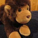 "Aurora Plush Brown Monkey 13"" laying down"