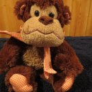 Circo Target plush Brown Monkey Accented in orange white checkered material