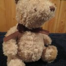 Disney  Plush Pooh Teddy Bear lovey brown ribbon