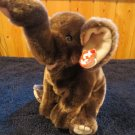 Ty Beanie Buddy Buddies Collection dark gray Elephant Named Trumpet Plush Lovey