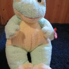 TY Baby Frogbaby Plush Green yellow Frog with heart tag Lovey 1999