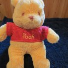 Disney Plush Super Soft Winnie The Pooh Bear Red Knit sweater