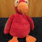 "Pottery Barn Kids PBK 11"" Plush Parrot bird Red green yellow orange"