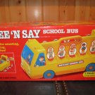 Vintage 1989 Disney Mattel See N Say School Bus in original box