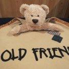Commonwealth Plush Tan Bear security Blanket  Old Friend