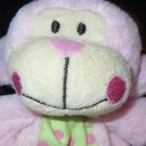 New Baby Essentials Pink Monkey Security Blanket Dots