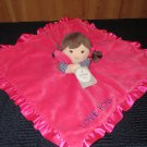 Carters Hot Pink Red Lovey Security blanket Doll with Love You