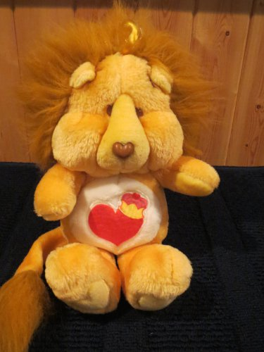 Vintage 1984 Brave Heart Plush Lion Care Bears Cousins 61940
