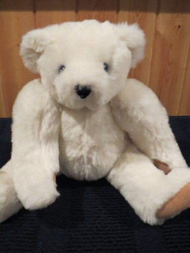 "Vermont Teddy Bear Company 15"" White fully jointed"