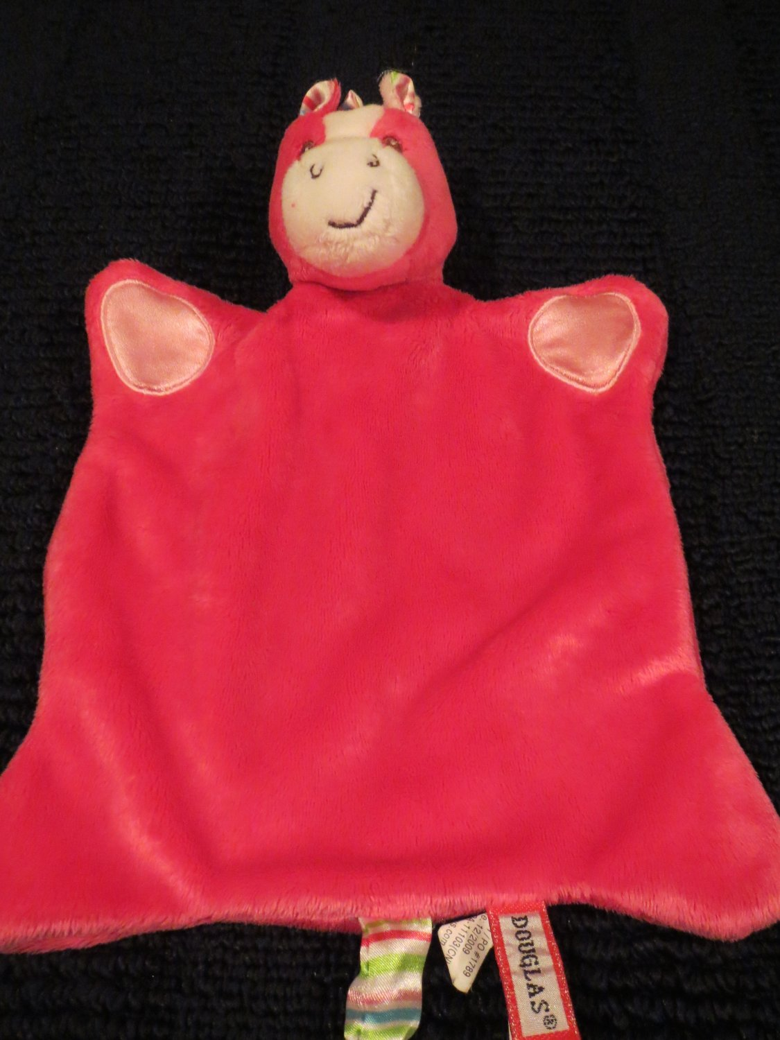 Douglas Cuddle Toy Pink Horse Security blanket