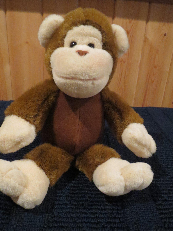Commonwealth Plush Brown Monkey Cream Accents