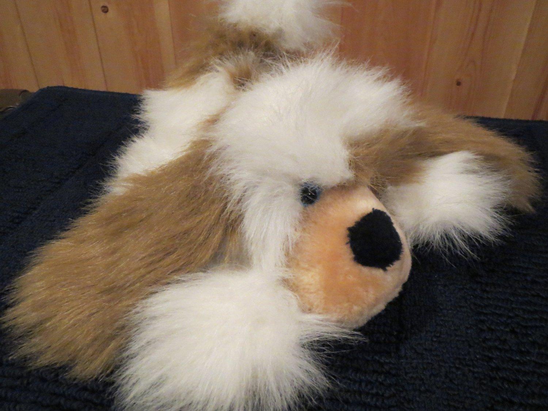 1984 Matthew Fox Fluffy Furry Puppy Dog White Tan