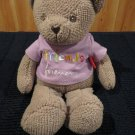 New Plush Tan Teddy Bear Hanny Girl Porductions Message Bear Friends Forever