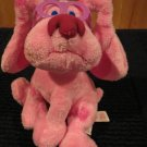 Two Blues Clues Plush Magenta Dog Ty Beanie Babies